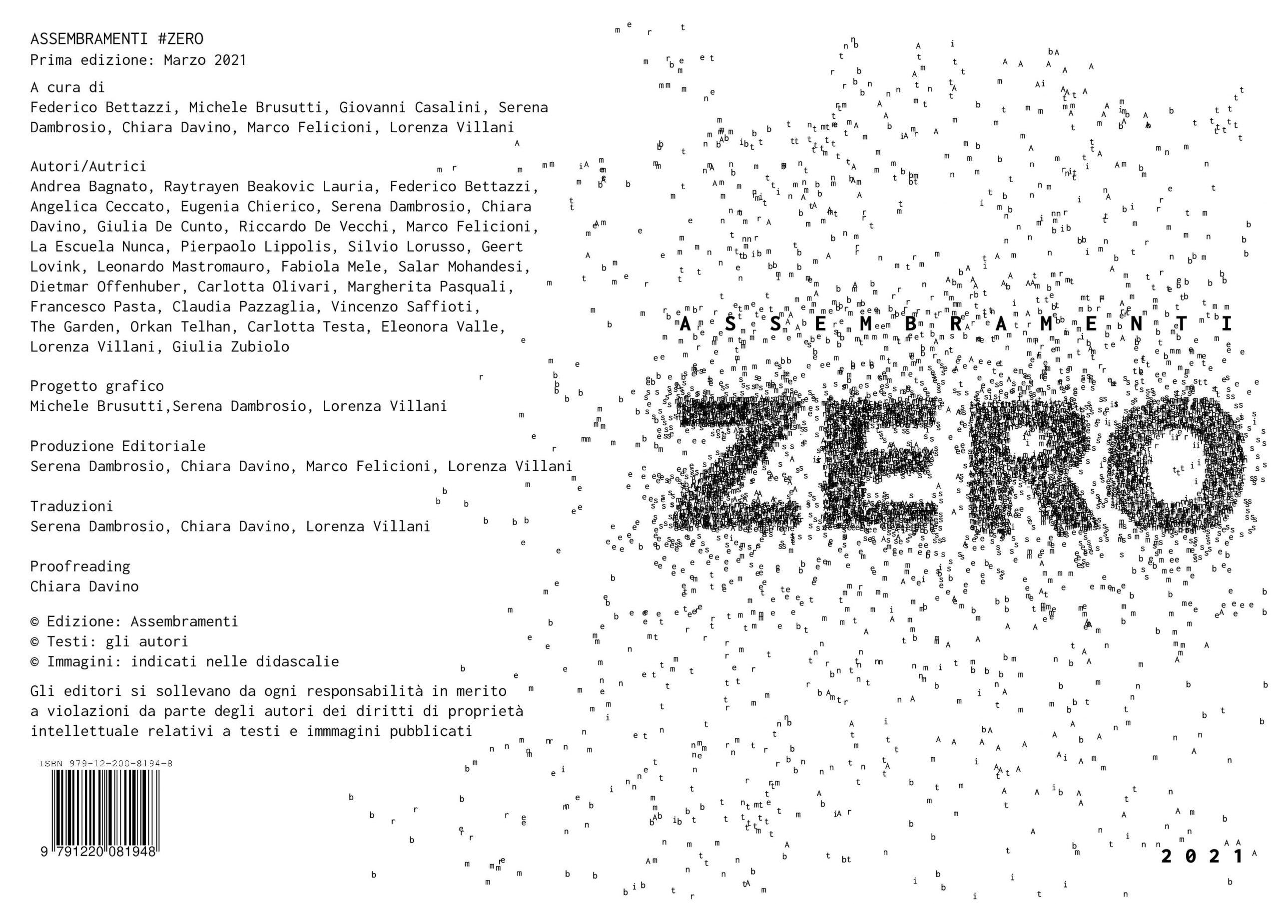 ZERO - Colophon